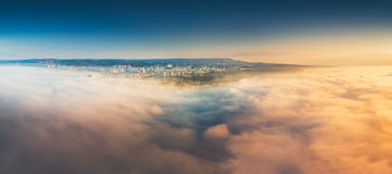 Flying above the clouds Royalty Free Stock Photos