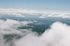 Flying above the clouds. Royalty Free Stock Image