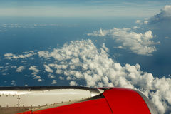 Flying above clouds Royalty Free Stock Image