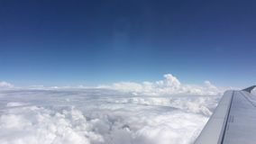 Flying above the clouds stock video