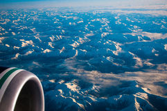 Flying Above the Earth over British Columbia Royalty Free Stock Photos
