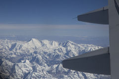 Flying above the himalayas Royalty Free Stock Photography