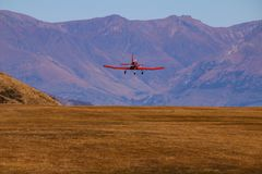 Flying above mountains Stock Photography