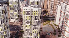 Flying Above Multi-storey Unfinished Building stock video