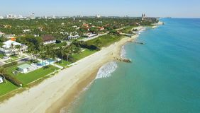 Amazing aerial view on West Palm Beach Royalty Free Stock Photos