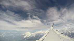 Flying above tropical storm clouds. Footage stock footage
