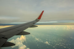 Flying above white clouds Stock Photography