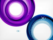 Flying abstract circles, vector geometric background, color air bubbles, web banner template, business or technology. Presentation background or elements Royalty Free Stock Photography