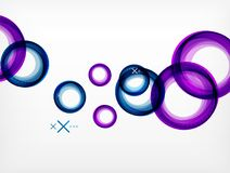 Flying abstract circles, vector geometric background, color air bubbles, web banner template, business or technology. Presentation background or elements royalty free illustration