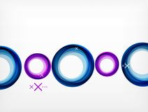 Flying abstract circles, vector geometric background, color air bubbles, web banner template, business or technology. Presentation background or elements vector illustration