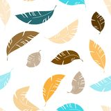 Flying abstract feathes seamless pattern. Flying abstract feathers seamless pattern for textile, background, ect. Seasonal stock illustration
