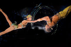 Flying Acrobats Stock Photos