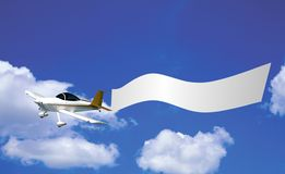 Flying advertisement Stock Image