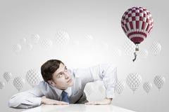 Flying aerostat Stock Images