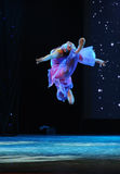 Flying through the air-national dance Royalty Free Stock Photography
