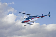 Flying Air Vac Helicopter Stock Photography