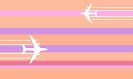 Flying aircraft illustration Royalty Free Stock Photos