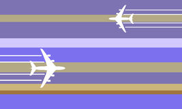 Flying aircraft illustration Royalty Free Stock Images