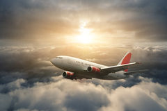 Flying airplane Royalty Free Stock Photography