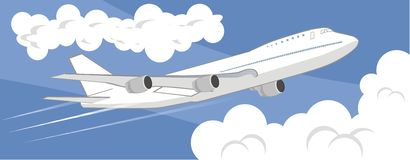 Flying airplane royalty free stock photos