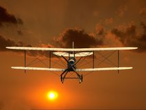 Flying airplane 3d Royalty Free Stock Image