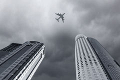 Flying airplane Royalty Free Stock Images
