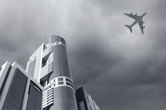 Flying airplane Stock Photos