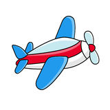 Flying airplane - childrens icon, symbol Royalty Free Stock Images