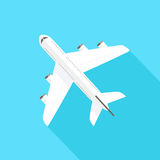 Flying Airplane - Icon Royalty Free Stock Photography