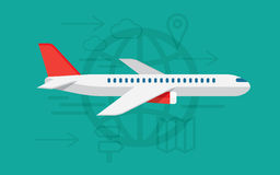 Flying airplane sign. vector illustration Royalty Free Stock Image
