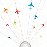 Flying Airplanes Royalty Free Stock Images