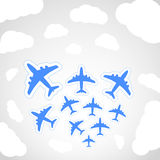 Flying airplanes Royalty Free Stock Photo