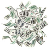 Flying American Dollars Royalty Free Stock Images