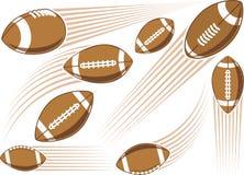 Flying american football ball Stock Photo
