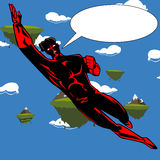 Flying Android Hero with speech bubble Stock Photos