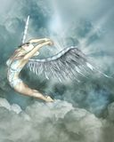 Flying angel. Illustration of a flying angel Royalty Free Stock Images