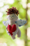 Flying Angel. Blurred. Stock Images