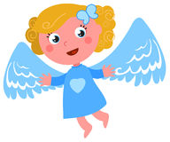 Flying angel vector royalty free illustration