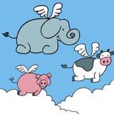 Flying Animals stock illustration