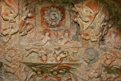 Flying apsaras of Yungang grottoes Royalty Free Stock Images