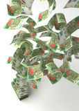 Flying Argentina Pesos Royalty Free Stock Photos