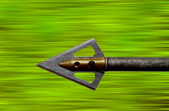 Flying Arrow. An archers arrow flying through the air royalty free stock image