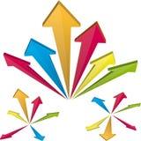 Flying arrows Royalty Free Stock Photos