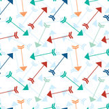 Flying arrows seamless pattern background Stock Image