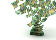 Flying Australian Dollar. ( with clipping path Royalty Free Stock Image