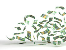Flying Australian Dollar Stock Photo