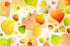 Flying autumn leaves background Royalty Free Stock Photo