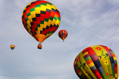 Flying away. Chester County Hot Air Balloon Festival at Plantation Field, Unionville PA royalty free stock photo