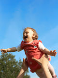 Flying baby Royalty Free Stock Photography