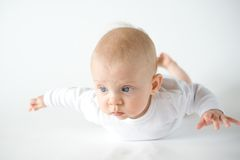 Flying baby Royalty Free Stock Image
